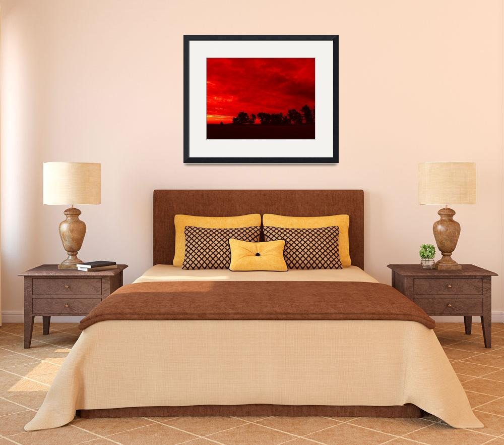 """Red Landscape&quot  (2007) by MAlexander"