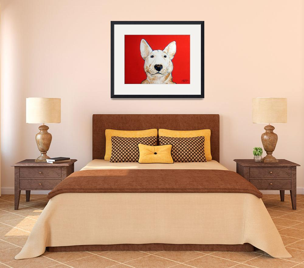 """BINGO BULL TERRIER&quot  (2009) by MBaldwinFineArt2006"