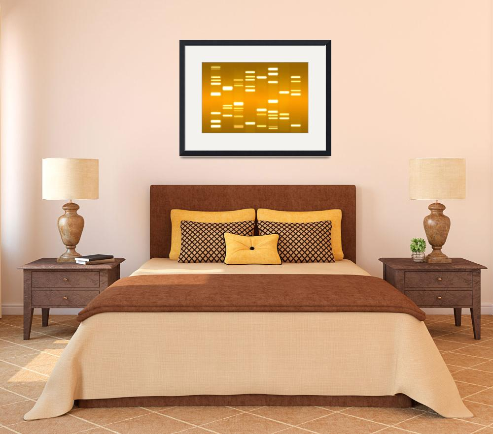 """DNA Art Gold&quot  (2010) by ModernArtPrints"