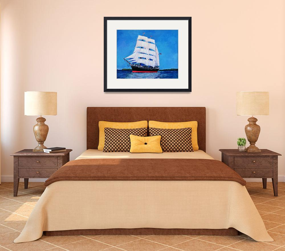 """Tallship Star of India Sailing San Diego Bay&quot  (2013) by BeaconArtWorksCorporation"