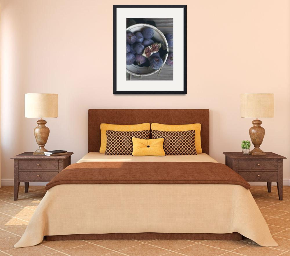 """Fruit dish, fine art Print, figs, interior design,&quot  (2013) by Illustrationstefano"