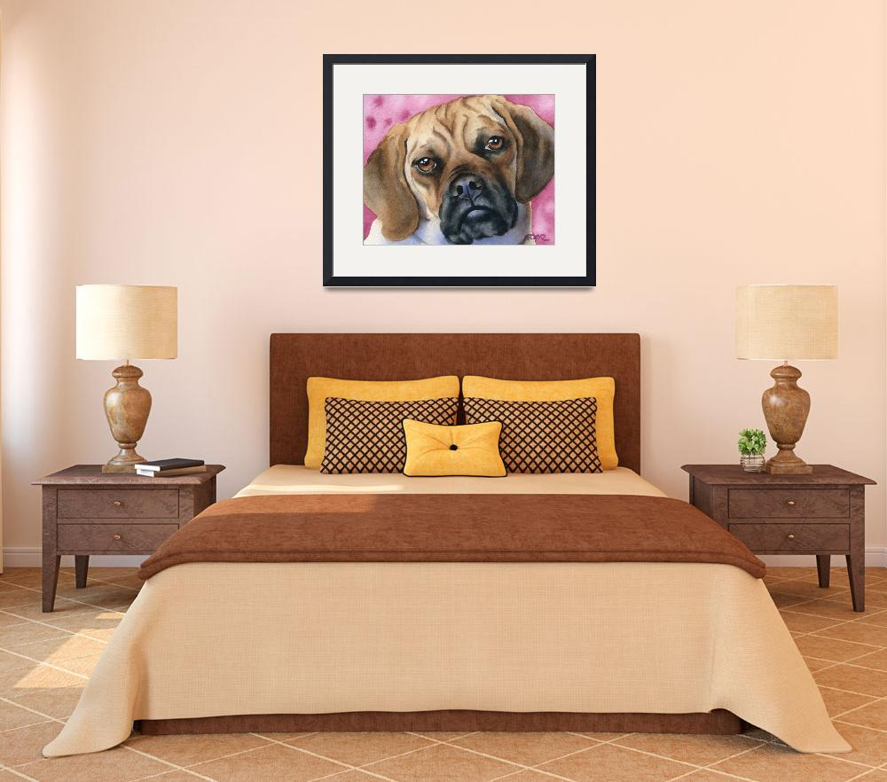 """Puggle&quot  (2015) by k9artgallery"