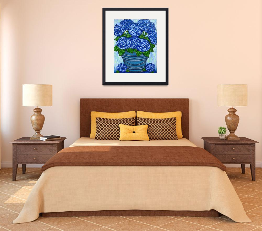 """Country Blues ""Hydrangeas""&quot  by LisaLorenz"