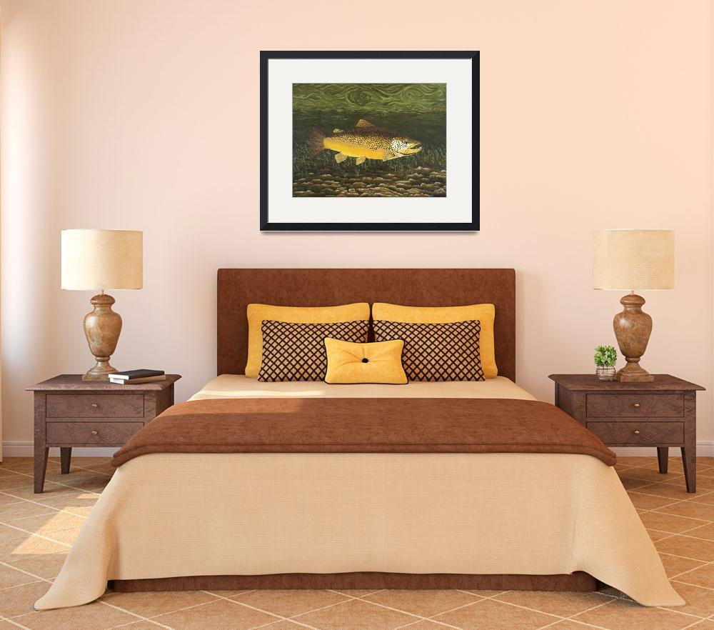 """Fine Art Prints Brown Trout Lake Fishing Nature&quot  (2008) by BasleeTroutman"