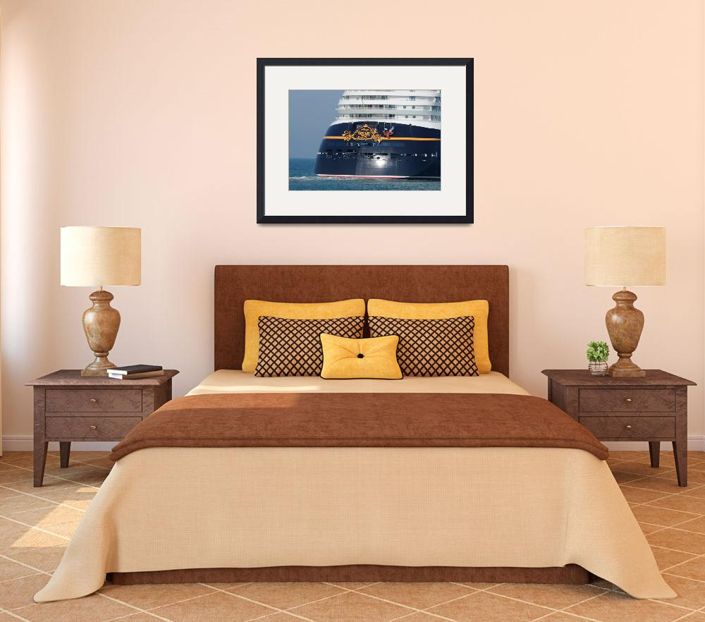 """Disney Dream cruise ship  stern&quot  by Landbysea"