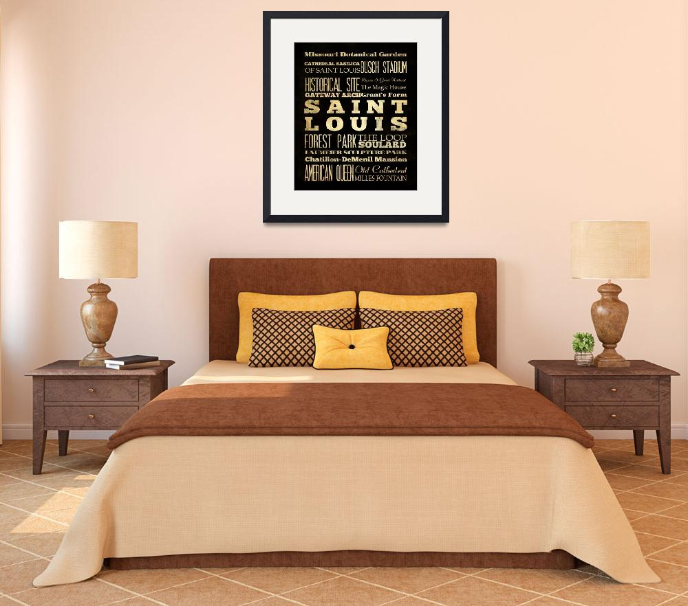 """LHA-218-Canvas-AG-US-City-SAINT LOUIS-18X24&quot  by JoyHouseStudio"