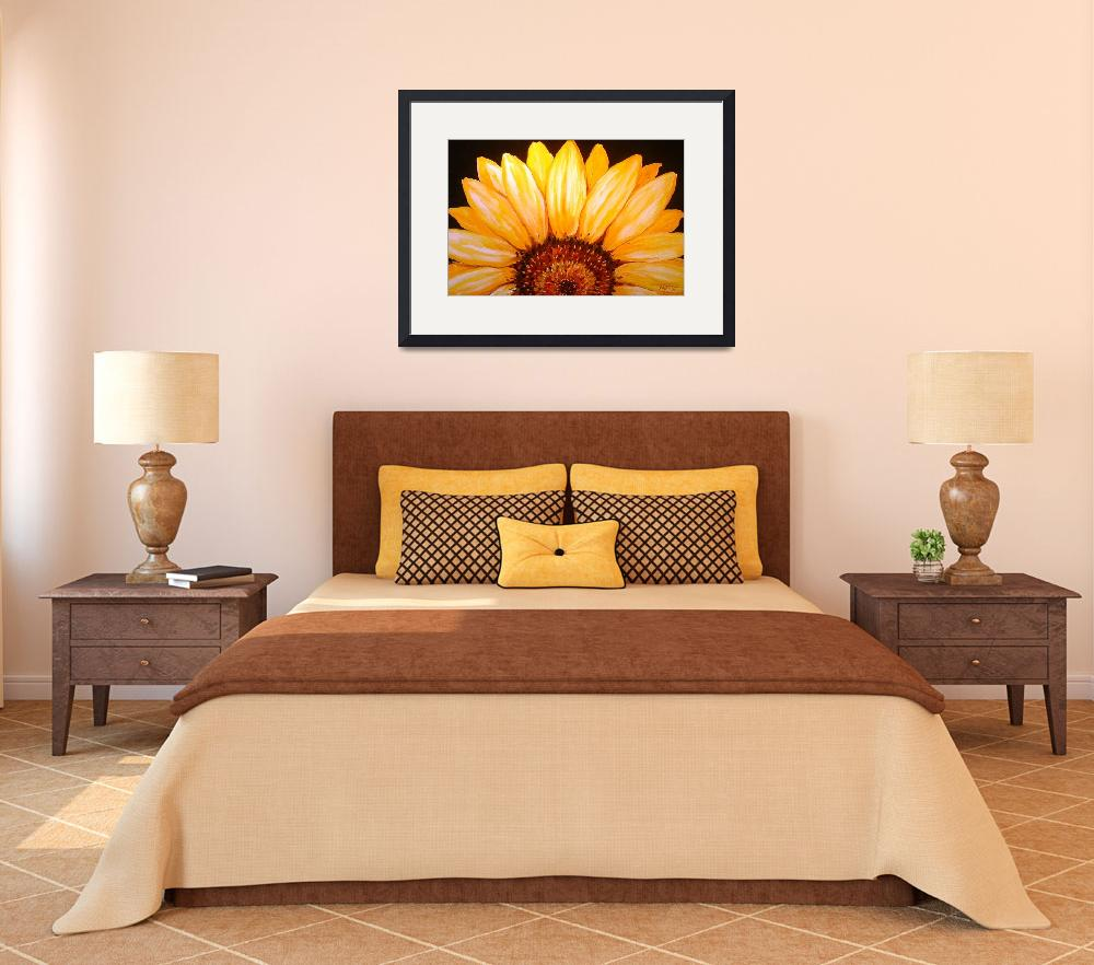 """SUNFLOWER SUNRISE 2006&quot  (2006) by MBaldwinFineArt2006"