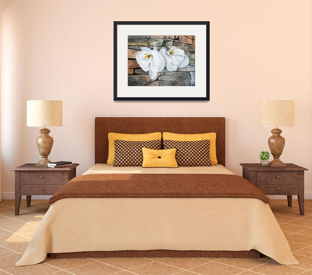 """orchids flower painting art print&quot  (2010) by derekmccrea"