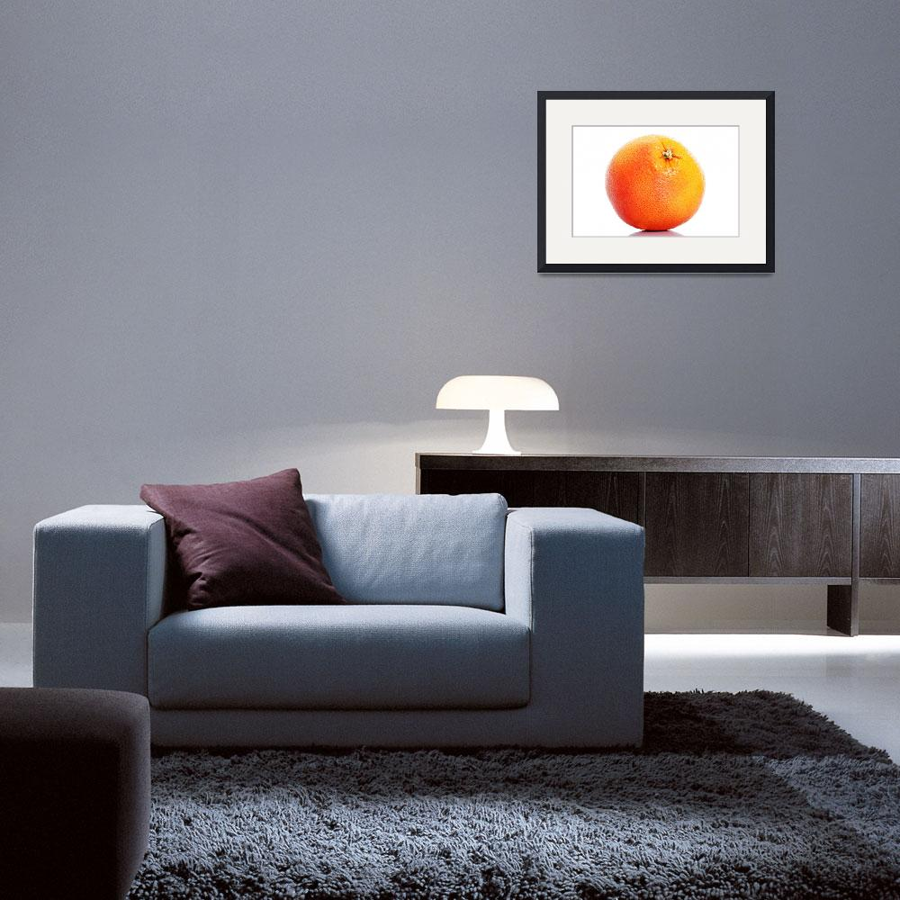 """One orange fruit isolated on white.&quot  by Piotr_Marcinski"