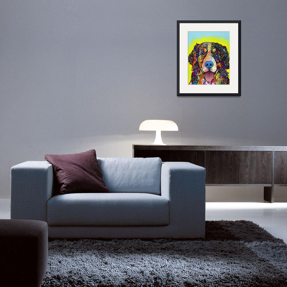 """Bernese Mountain Dog&quot  by artlicensing"