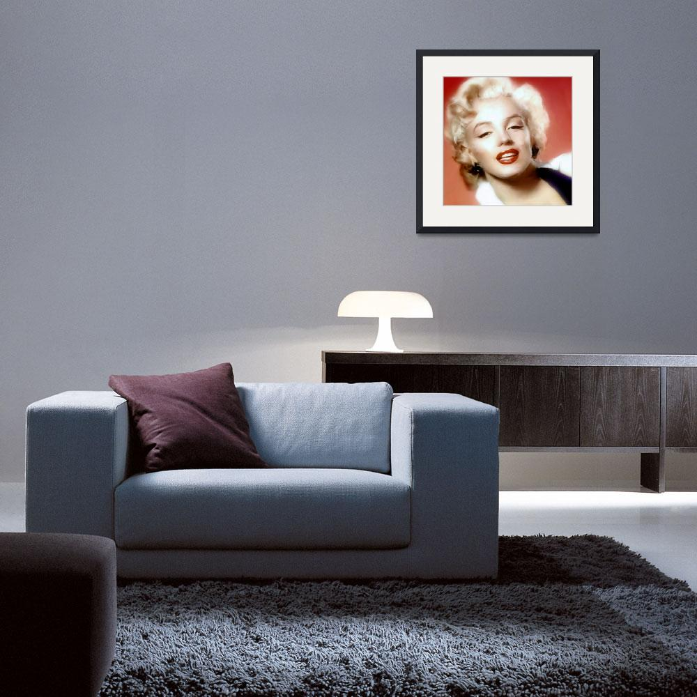 """Marilyn Monroe Watercolour Portrait&quot  (2014) by brianraggatt"