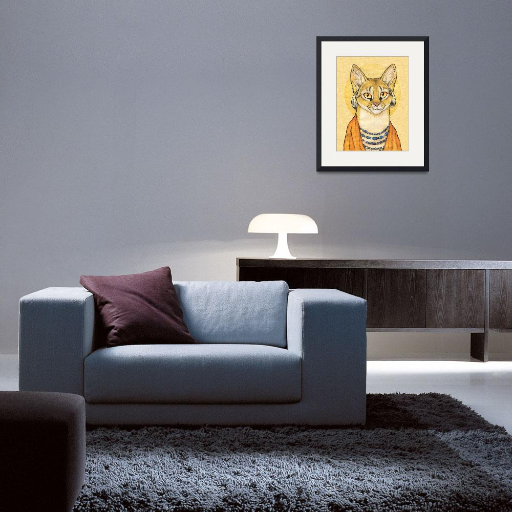 """Abyssinian Cat Portrait - Papyrus Cat&quot  (2008) by smbittler"