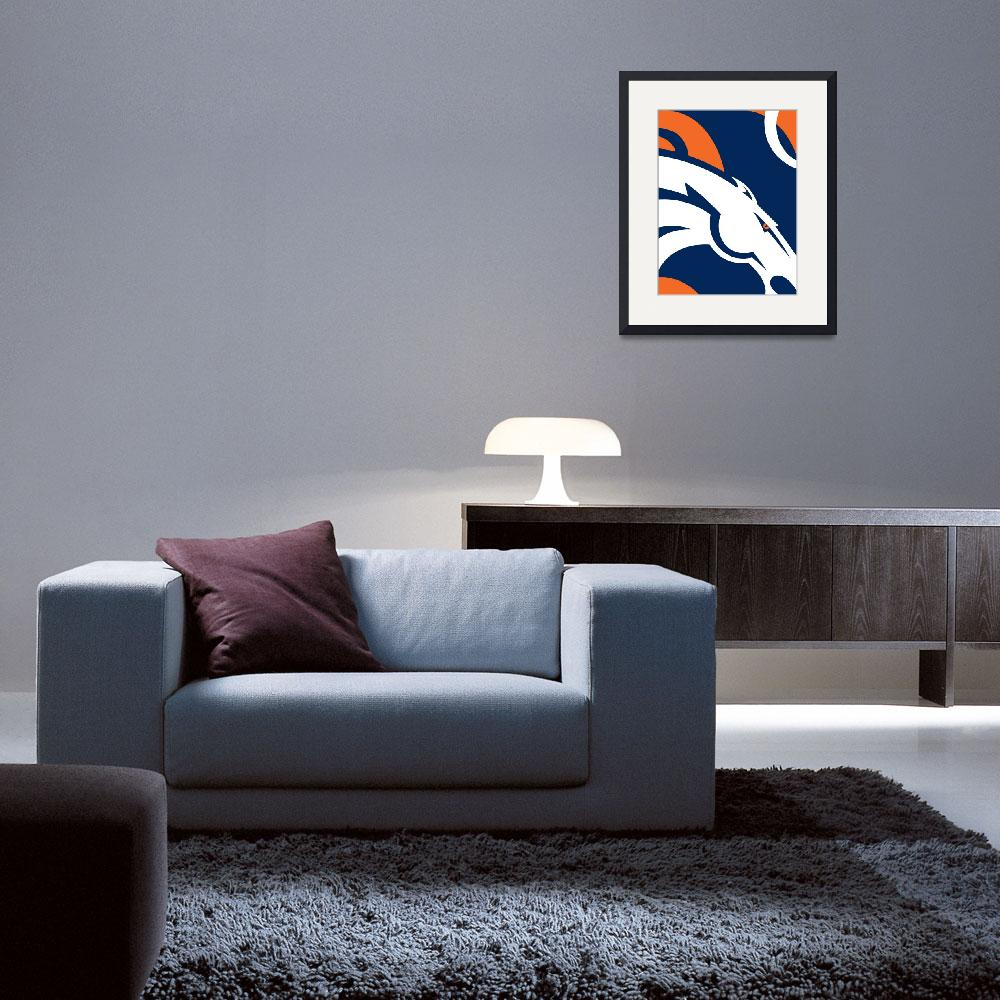"""Denver Broncos Football&quot  by RubinoFineArt"