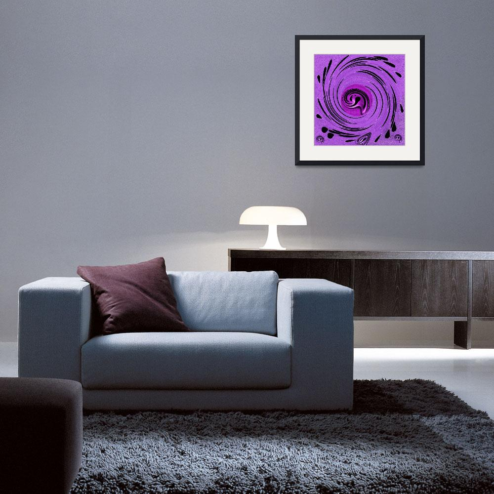 """Decorative In Purples&quot  (2014) by PepitaSelles"