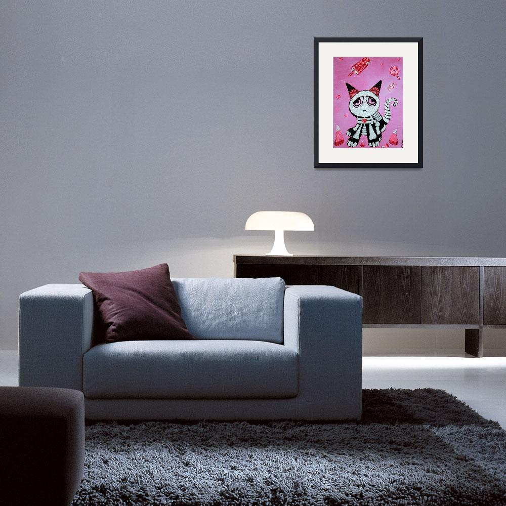 """Kitty Cat Candy&quot  (2012) by ArtPrints"