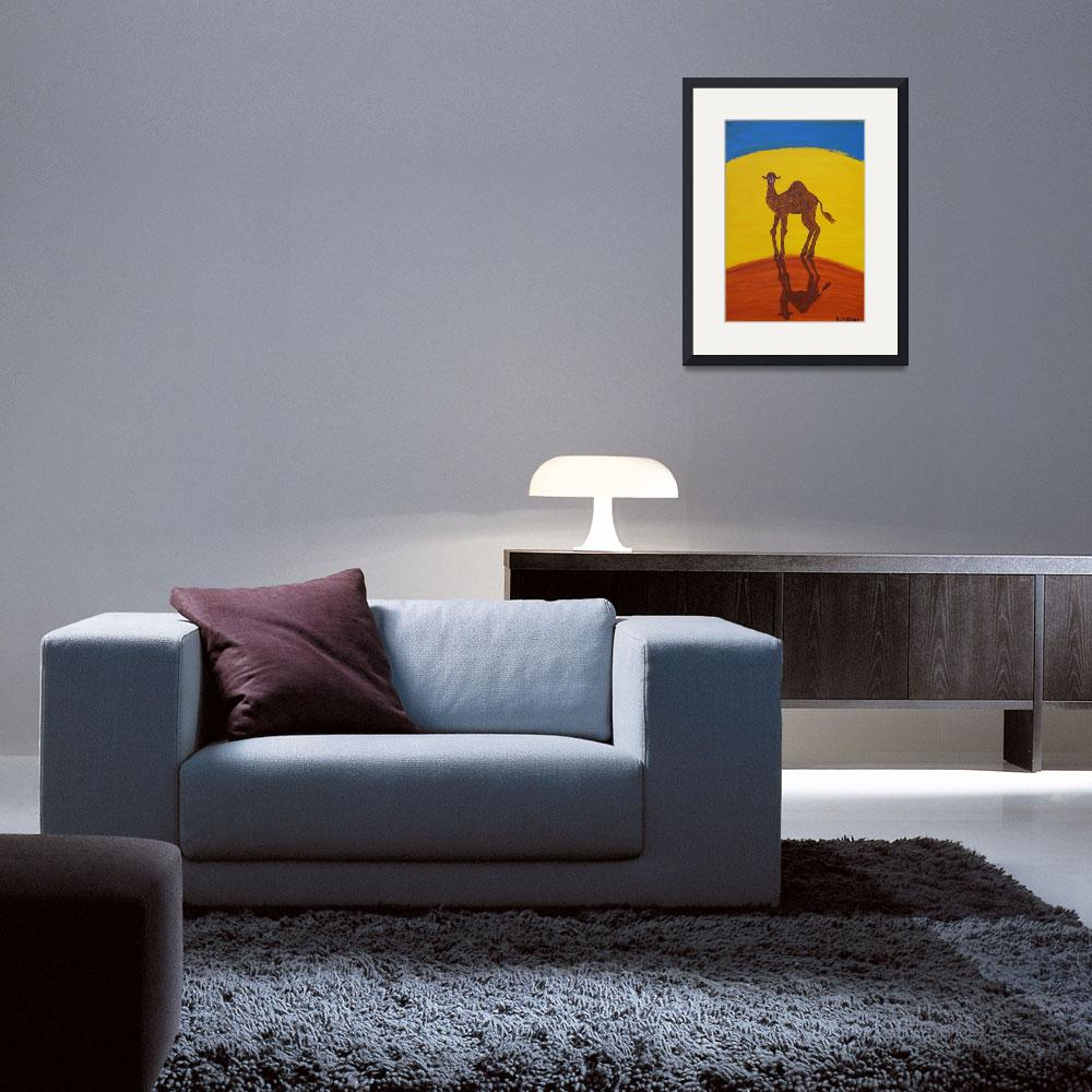 """FUNKY CAMEL (Outback Australia)&quot  (2007) by RoseLangfordPrints"