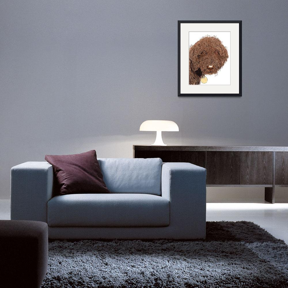 """Chocolate Labradoodle&quot  (2012) by mozache"