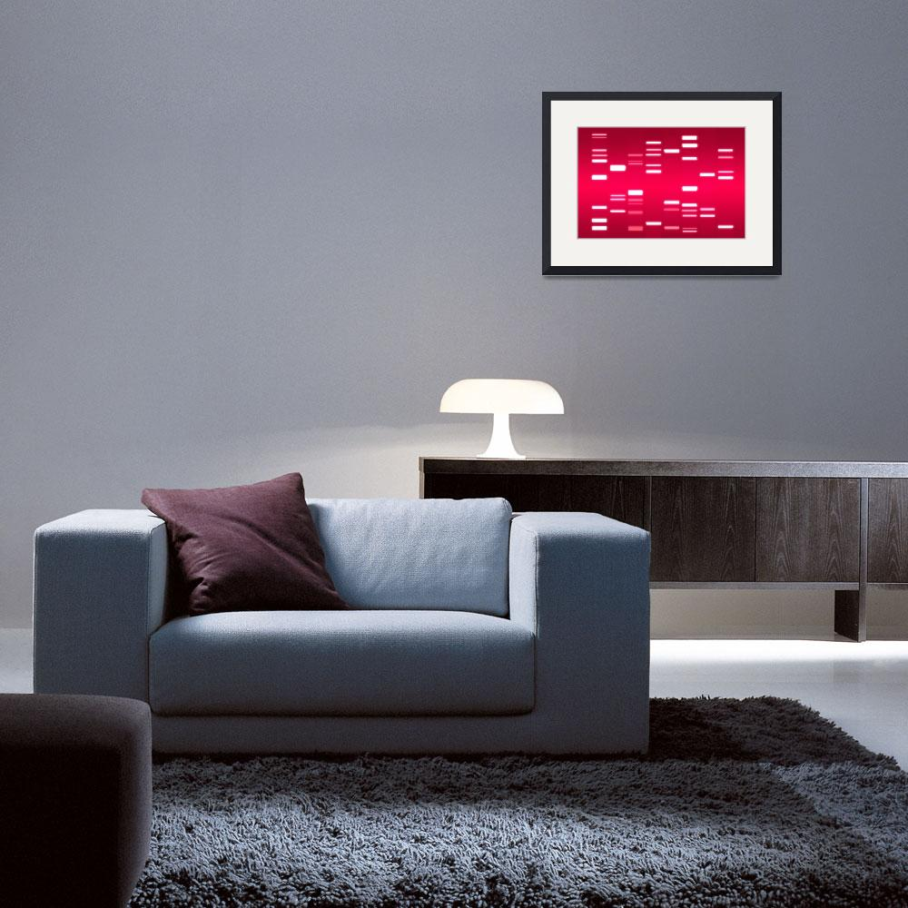 """DNA Art Crimson&quot  (2010) by ModernArtPrints"