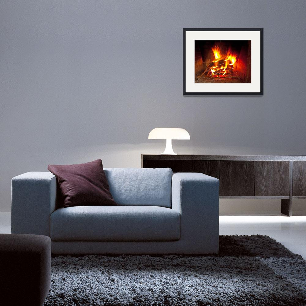 """Fireplace fire - warms any heart&quot  (2009) by MichaelKarasik"