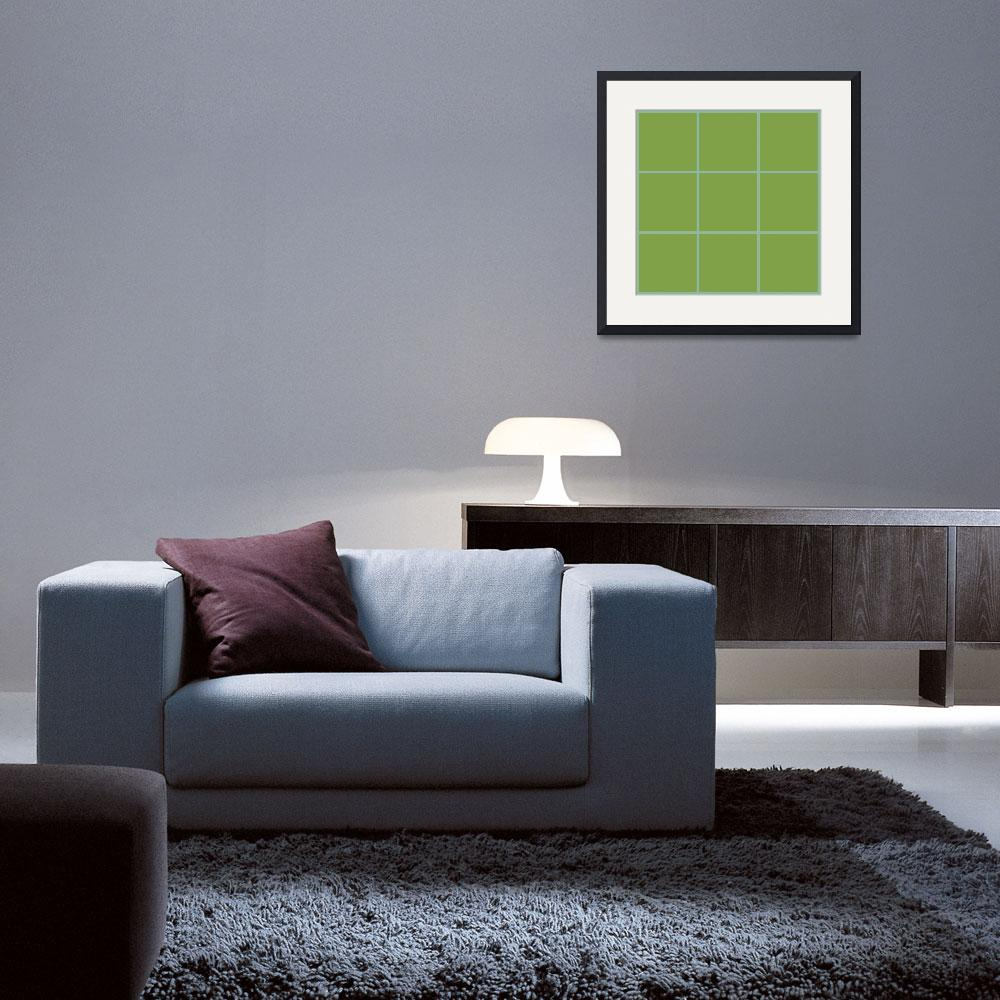"""Green Window 033 Canvas Contemporary Modern&quot  (2010) by Ricardos"