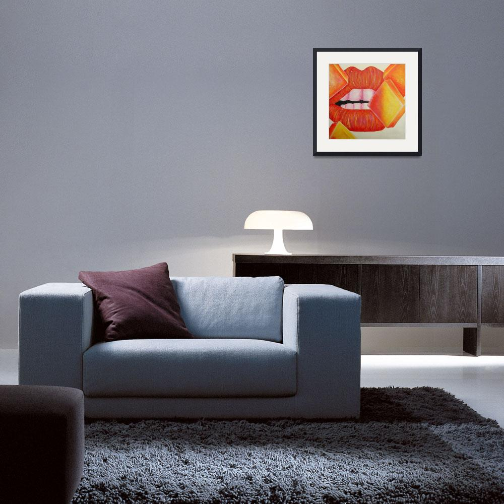 """Orange and Yellow Lips&quot  (2008) by mmm"