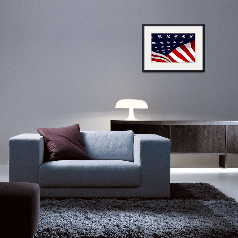 """USA Flag 01&quot  (2010) by whitewallgallery"