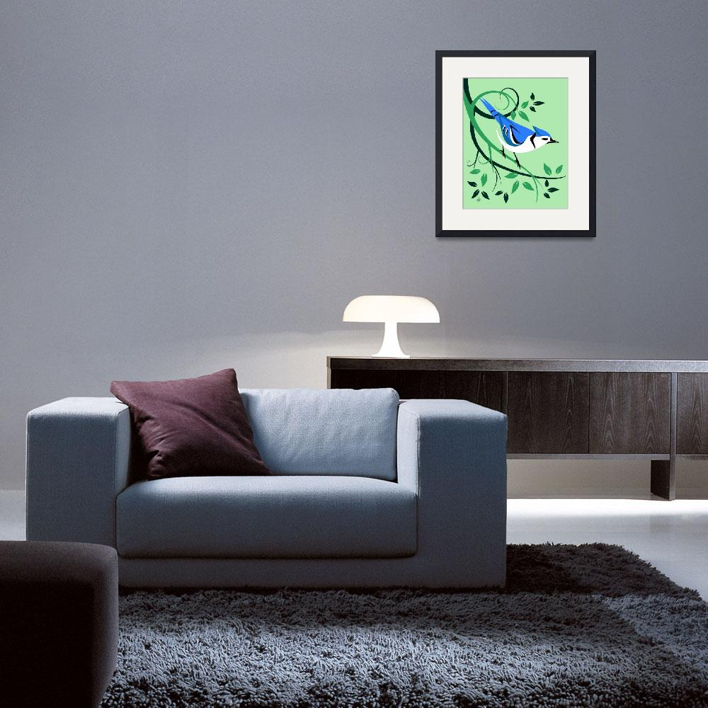 """Decorative Blue Jay Art&quot  by waterart"