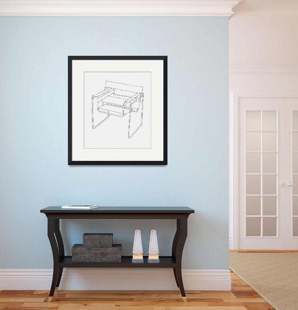 Wassily Chair Drawing Wassily Chair Line Drawing