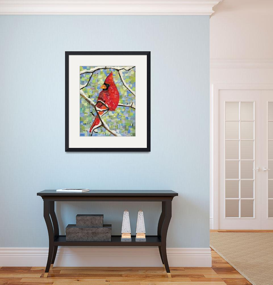 """Majestic Red Cardinal&quot  (2013) by ShawnaRowe"
