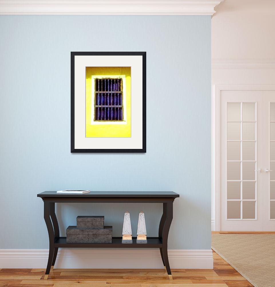 """Blue Window, Yellow House&quot  (2006) by JoaoPonces"