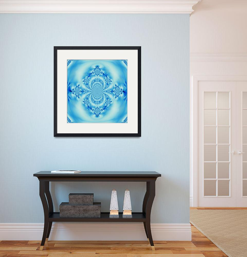 """Sky Blue Scarab Mandala&quot  by Atlantis-Seeker-Art"