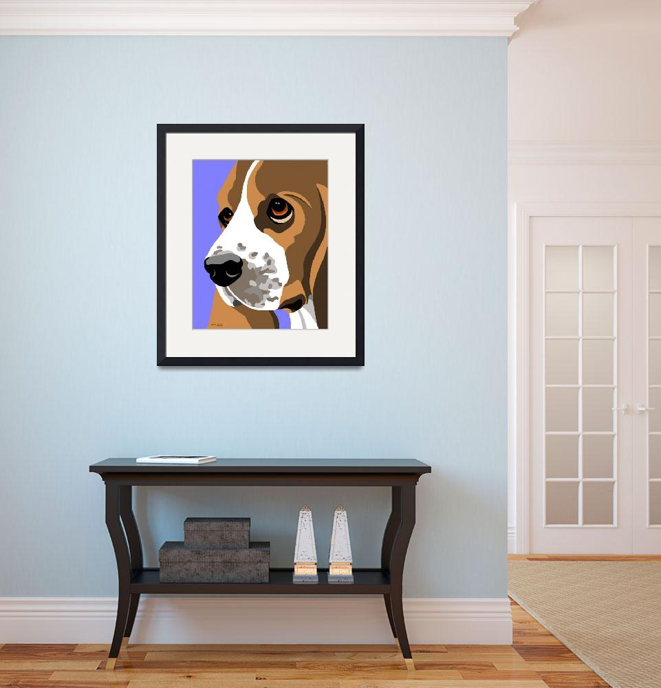 """Basset Hound&quot  (2009) by waterart"