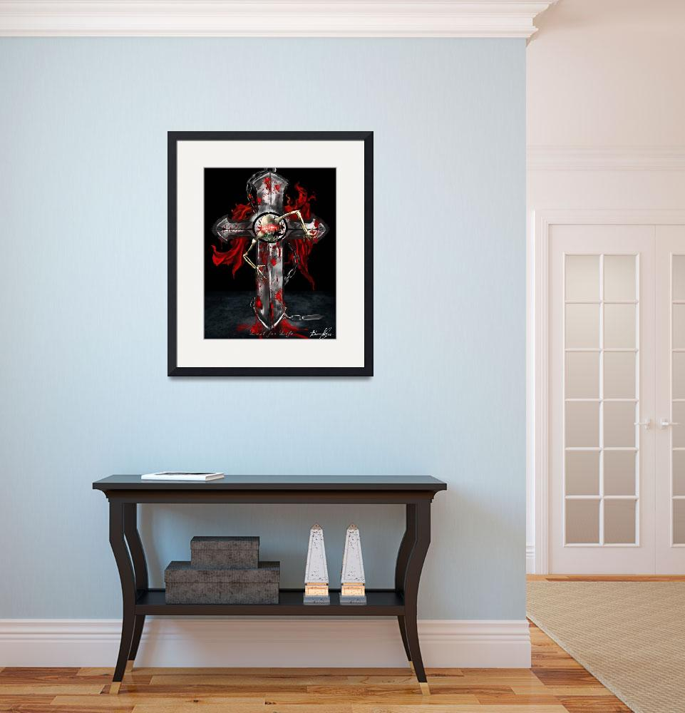 """Skull and Cross: Lust for Life&quot  (2012) by DeviantOneDesigns"