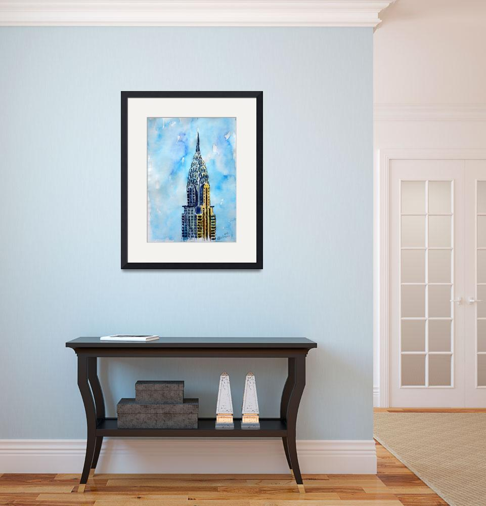 """Solitary View of Chrysler Building New York City&quot  (2015) by arthop77"