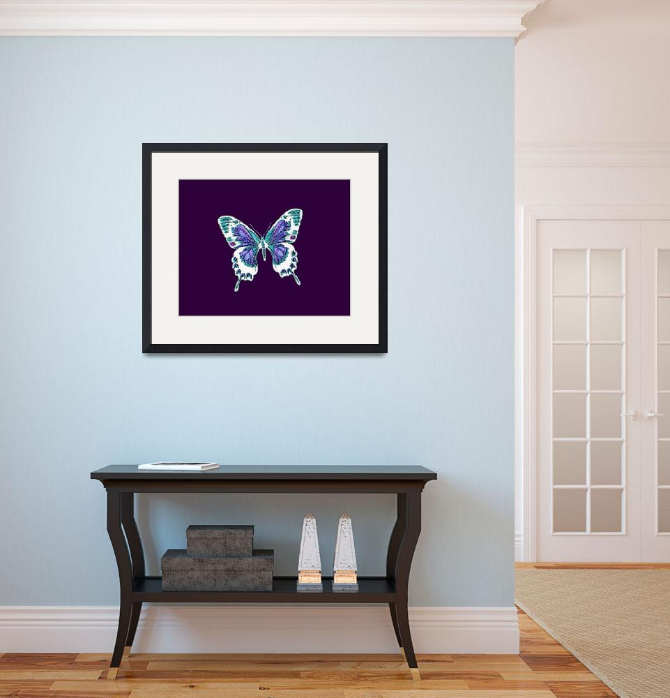 """White Violet Indigo Blue Butterfly&quot  (2013) by TheNorthernTerritory"