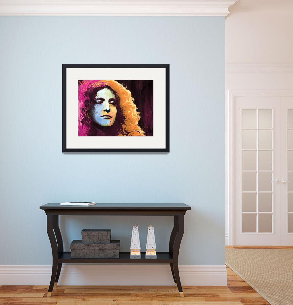 """Robert Plant - Led Zeppelin&quot  by saurabhdey"