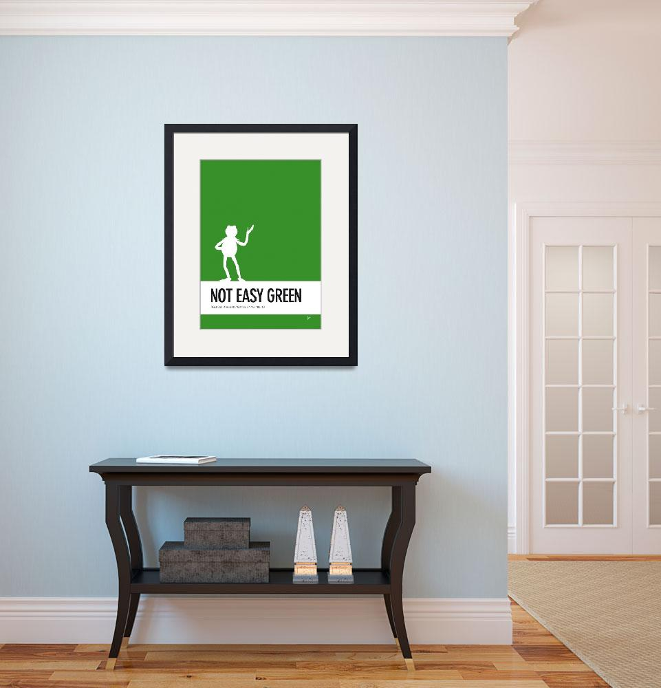 """No25 My Minimal Color Code poster Kermit&quot  by Chungkong"