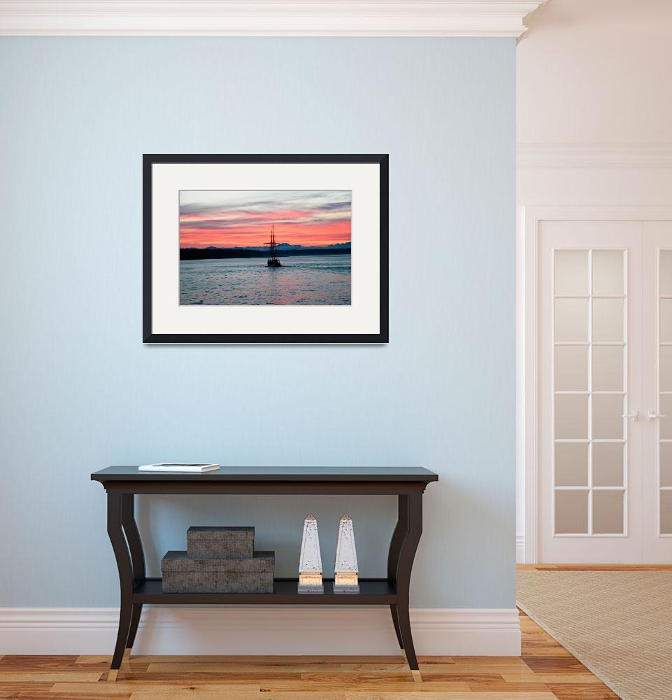 """Sunset on Puget Sound&quot  (2010) by SKelly"