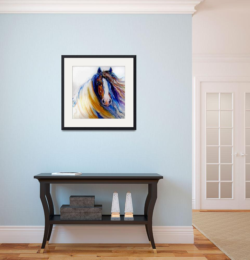 """GYPSY VANNER ROGUE&quot  (2009) by MBaldwinFineArt2006"