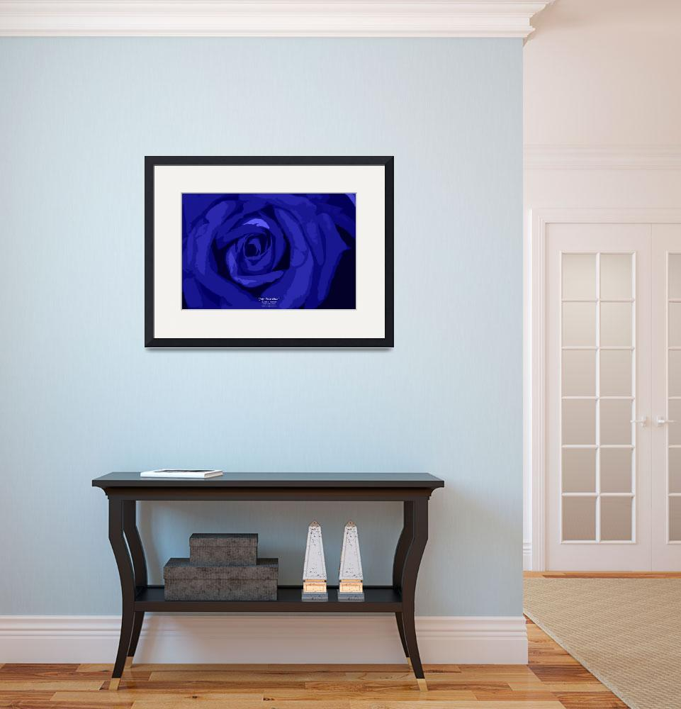 """July Rose Blue&quot  (2012) by SouthIdahoPhoto"