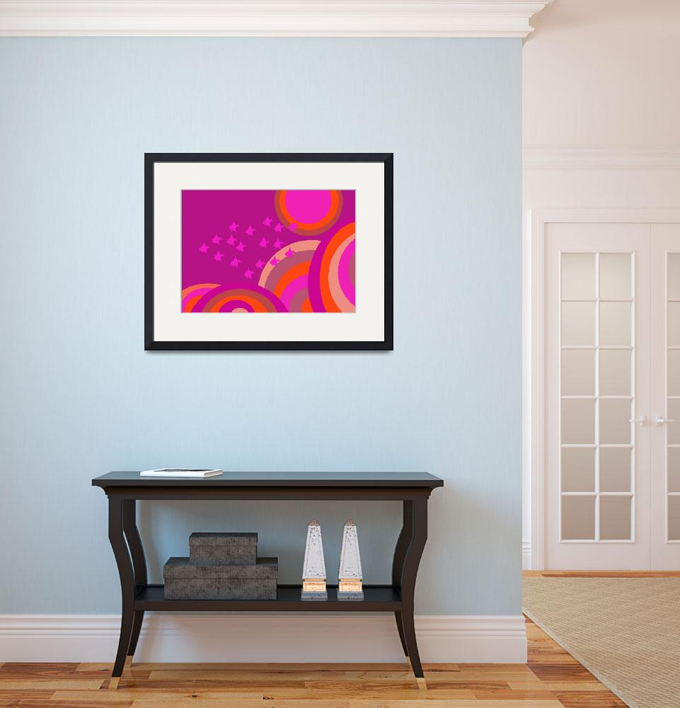 """Psychedelic hot pink fish&quot  (2015) by stevieafloat"