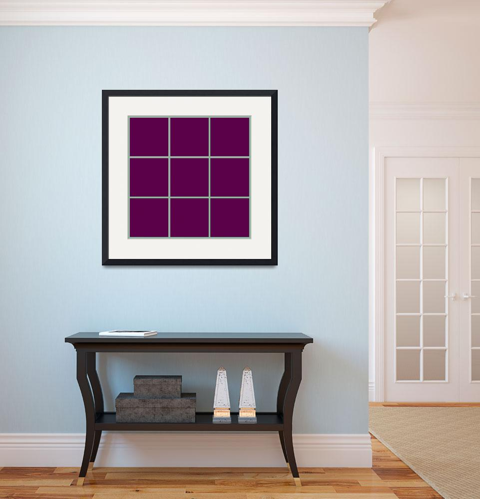 """Violet Window 190 Canvas Contemporary Modern&quot  (2010) by Ricardos"