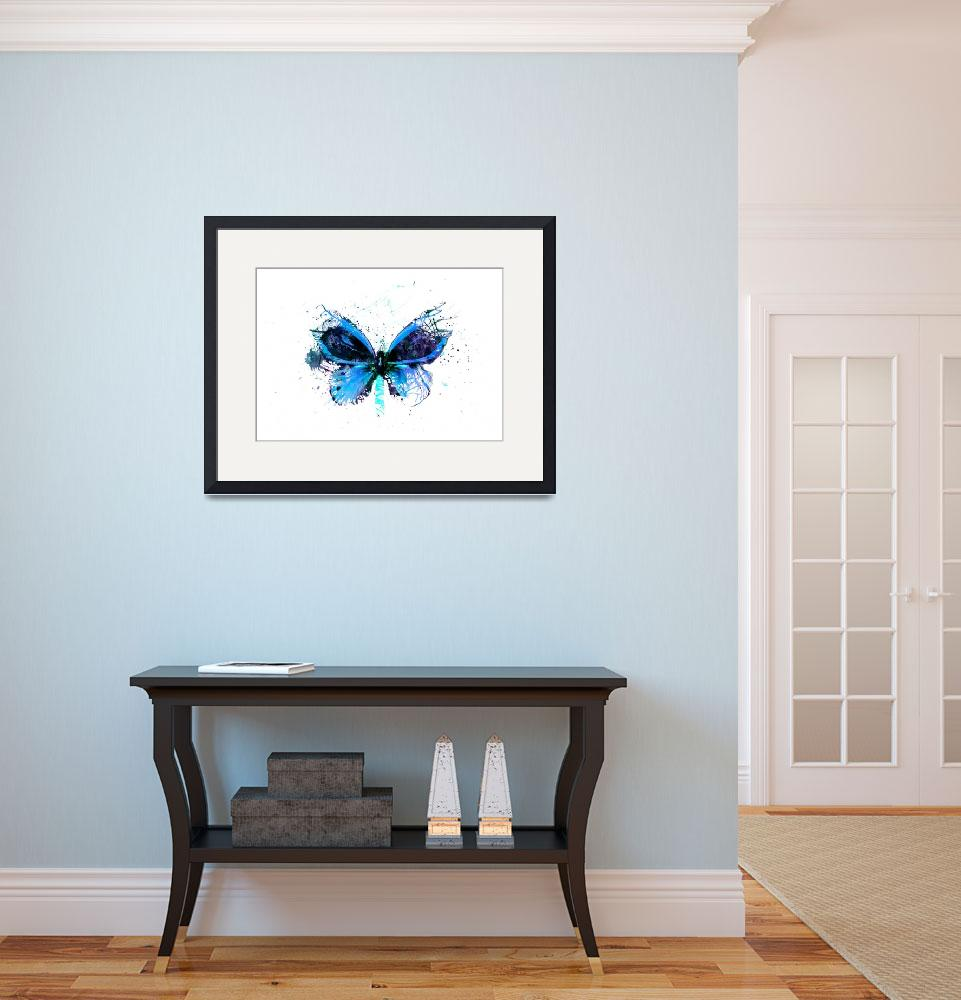 """Forgotten - Blue Butterfly - Art - Digital Print&quot  (2013) by artificialhappiness"