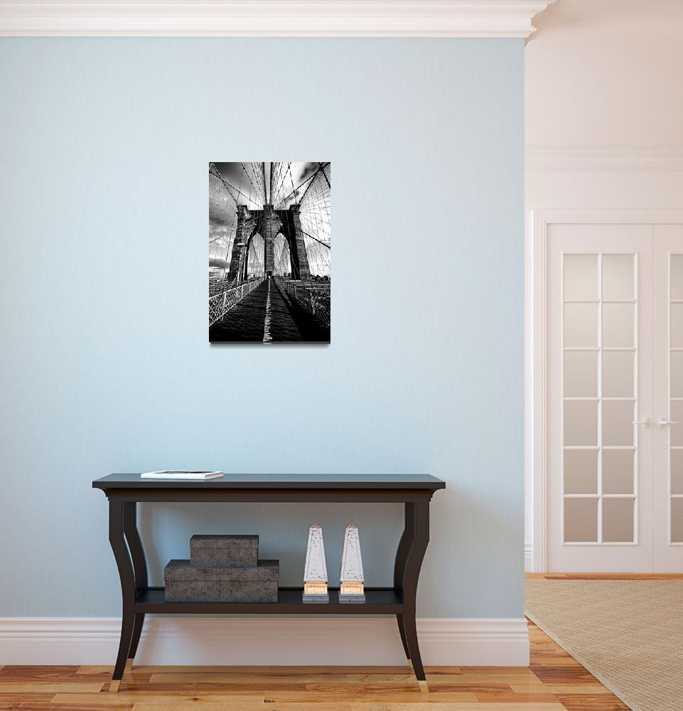 """Upon the Brooklyn Bridge Tower&quot  (2010) by New-Yorkled"