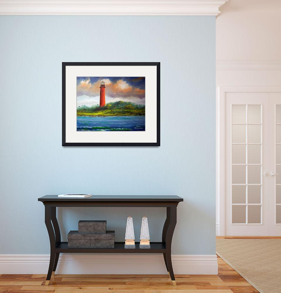 """Jupiter Florida Lighthouse Painting&quot  (2014) by mazz"