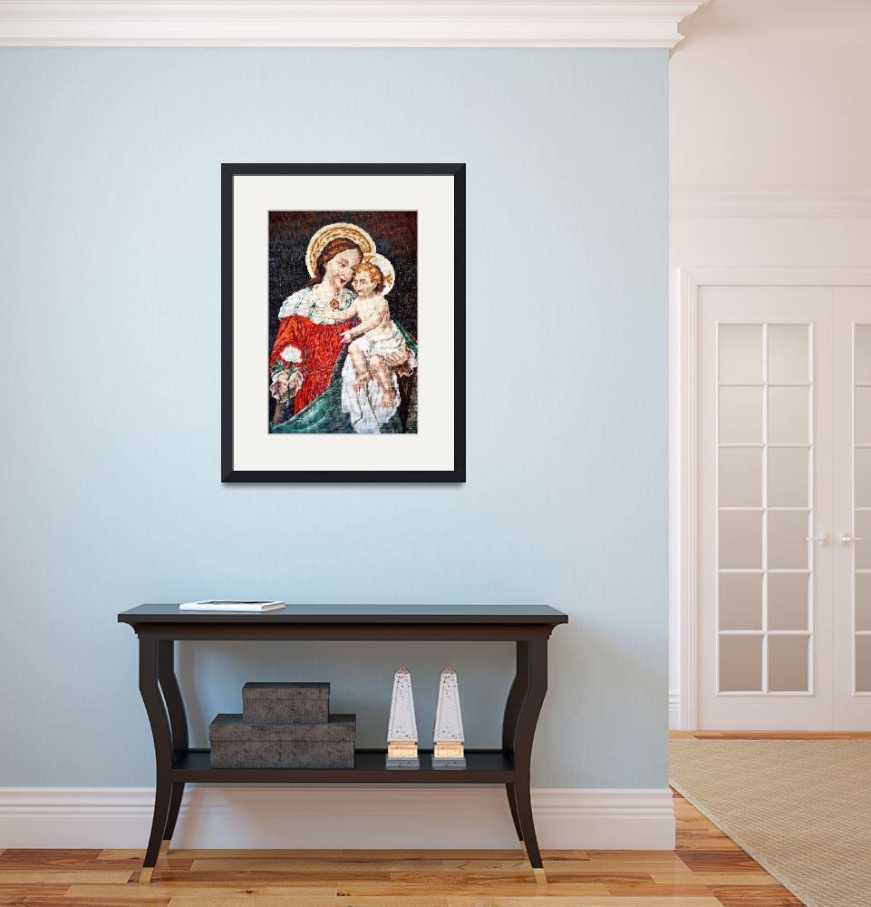 """Virgin Mary and Jesus icon&quot  (2009) by Dessie"