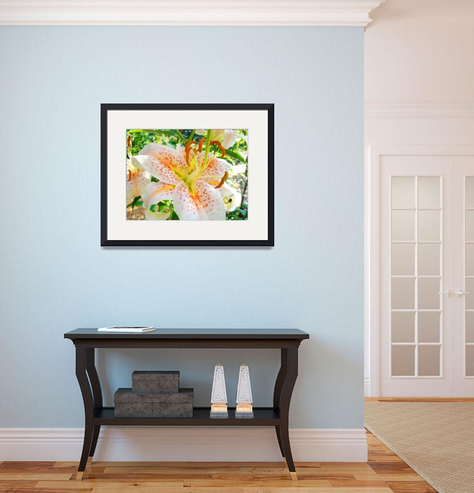 """Awesome Orange Lily Flowers Floral Garden art prin&quot  (2010) by BasleeTroutman"