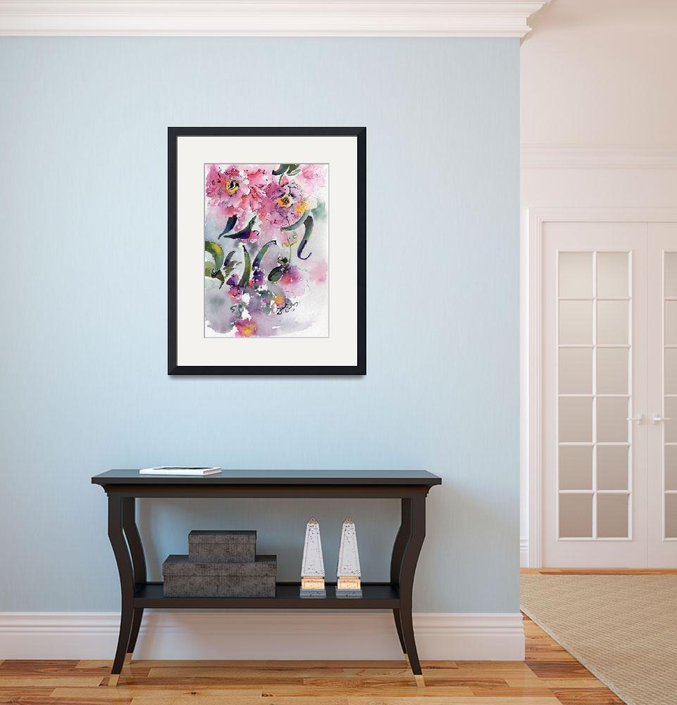 """Camellia Alabama State Flower Watercolor&quot  (2016) by GinetteCallaway"