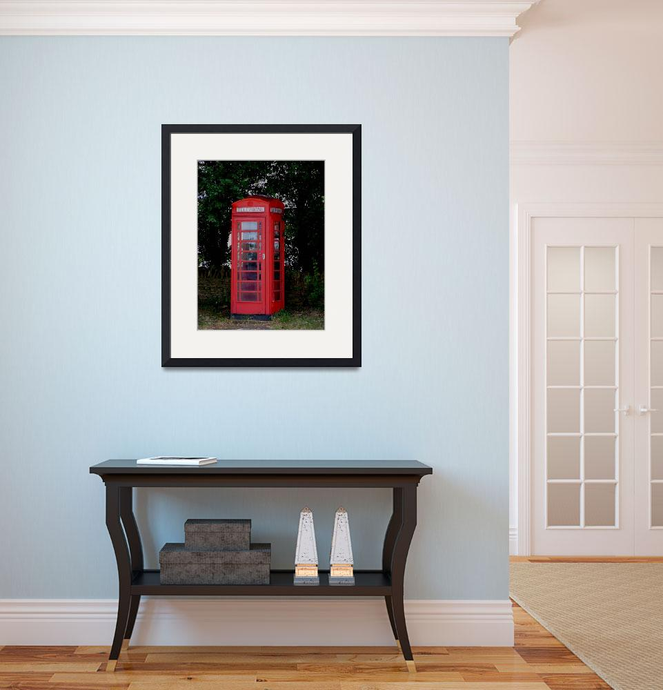 """Phone Box Apethorpe Northants&quot  by bespokepix"