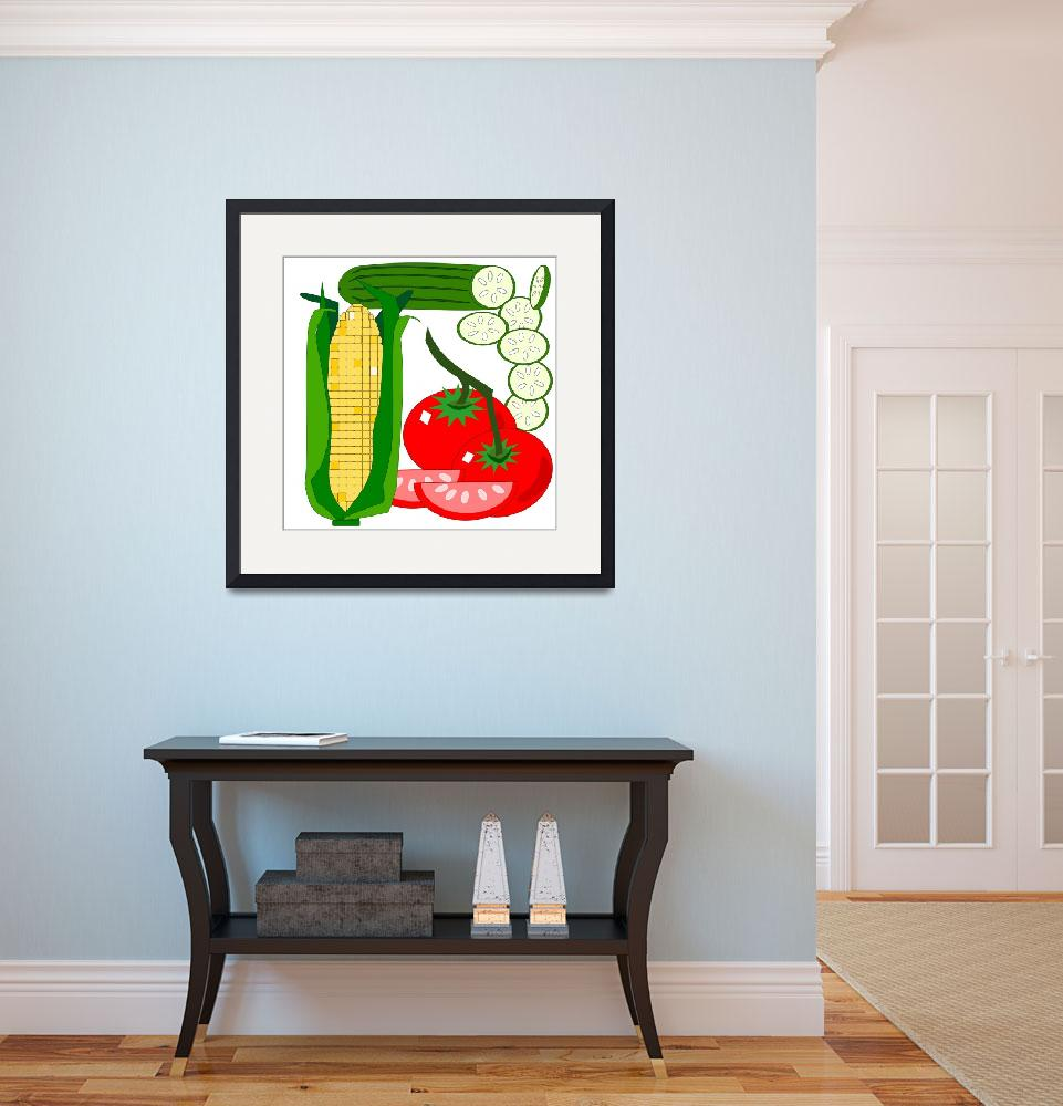 """Tomato, corn and cucumber&quot  (2011) by debband"